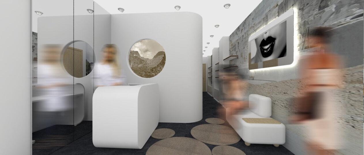 Centro estetico di design studiato da La Beautè