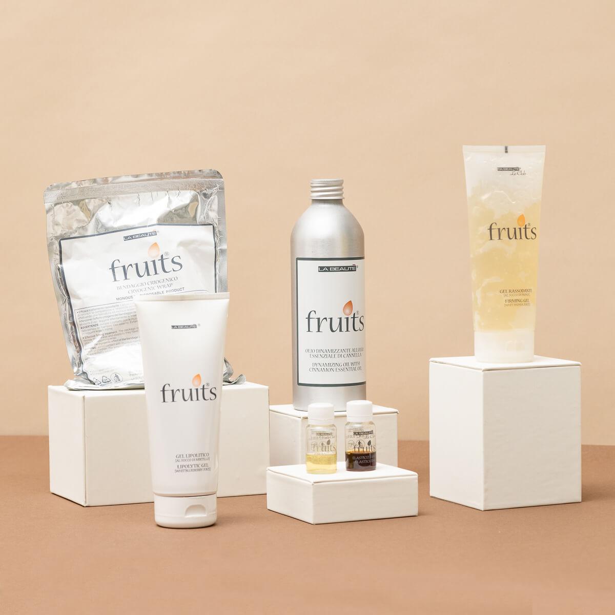 Esposizione prodotti brand Fruits - La Beautè