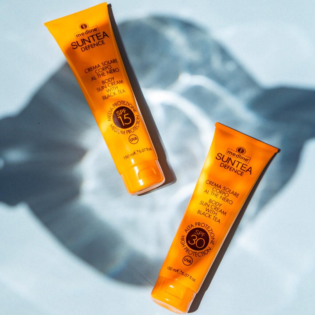 la Beautè, crema solare alta protezione Suntea Defence linea Medline